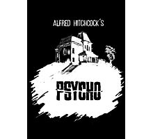 Alfred Hitchcock's Psycho by Burro! (black tee version) Photographic Print