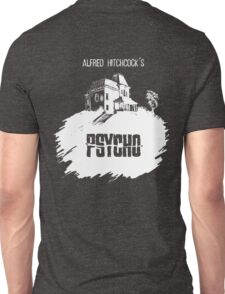 Alfred Hitchcock's Psycho by Burro! (black tee version) Unisex T-Shirt