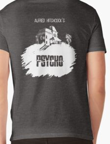 Alfred Hitchcock's Psycho by Burro! (black tee version) Mens V-Neck T-Shirt