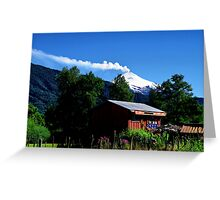 Nature and Man. Chile. Greeting Card