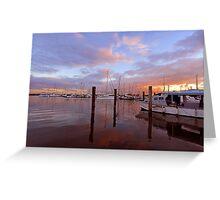 Sunrise at Scarborough Boat Harbour. Brisbane, Queensland, Australia. Greeting Card