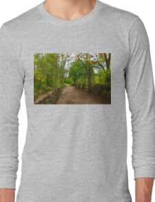 Dreamy Forest Road With Flowers - Impressions Of Spring Long Sleeve T-Shirt
