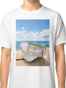 A shipwreck on the beach in the Caribbean Classic T-Shirt