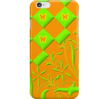 Green and Orange Butterfly Design  iPhone Case/Skin