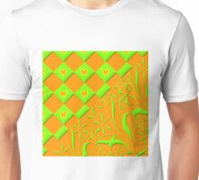 Green and Orange Butterfly Design  Unisex T-Shirt