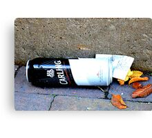 BET WITH A BEER  Canvas Print