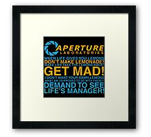 Aperture Science Laboratories Framed Print