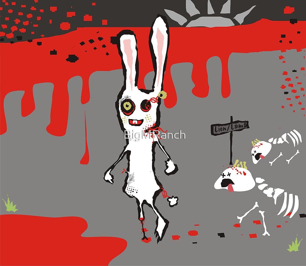 zombie bunny lion & lamb brains march calendar by BigMRanch