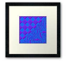 Purple and Blue Butterfly Design Framed Print