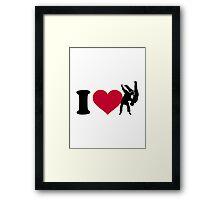 I love Judo Framed Print
