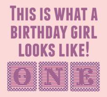What A Birthday Girl Looks Like Kids Tee