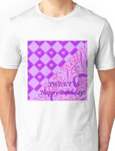Pink and Purple Butterfly Sweet 16 Unisex T-Shirt