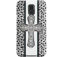 Animal Print Rhinestone Crusted Cross IPhone or I Pod Case Samsung Galaxy Case/Skin