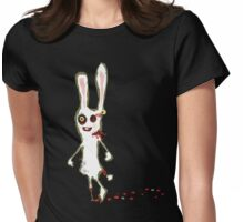 zombie bunny rabbit t-shirt Womens Fitted T-Shirt