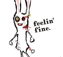 zombie bunny rabbit feelin fine by BigMRanch