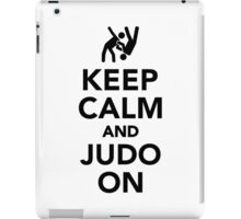 Keep calm and Judo on iPad Case/Skin