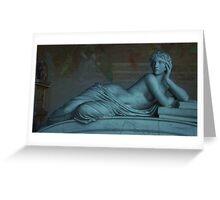 Goddess of Books in Pisa, Italy  Greeting Card