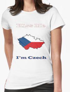 Kiss Me I'm Czech Womens Fitted T-Shirt