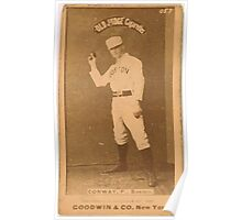 Benjamin K Edwards Collection Dick Conway Boston Beaneaters baseball card portrait Poster