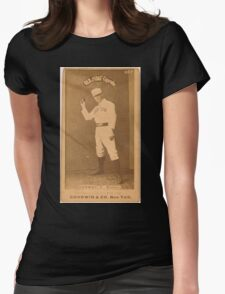 Benjamin K Edwards Collection Dick Conway Boston Beaneaters baseball card portrait Womens Fitted T-Shirt