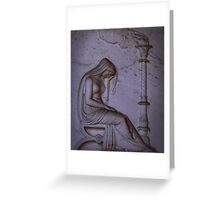 Sarcophagi sculpture another mourning lady  Greeting Card