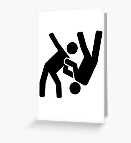 Judo Greeting Card