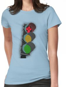 Middle Earth Traffic Light Womens Fitted T-Shirt