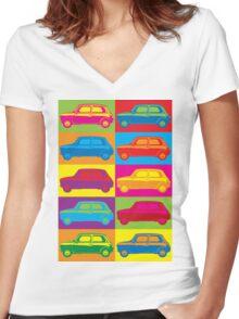 Mini Warhol Women's Fitted V-Neck T-Shirt