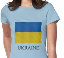 Ukrainian flag Womens Fitted T-Shirt