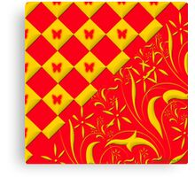 Red and Yellow Butterfly Design Canvas Print