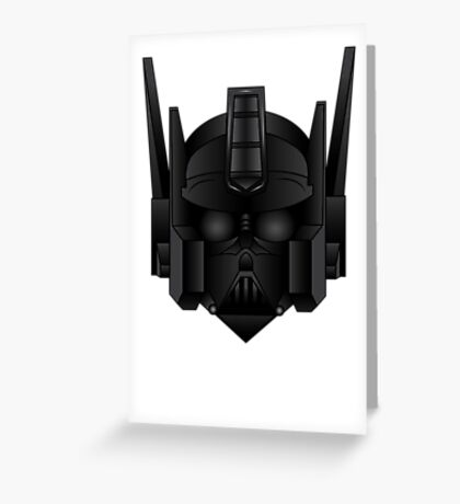Optimus Vader Greeting Card