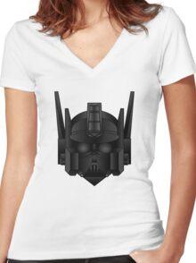 Optimus Vader Women's Fitted V-Neck T-Shirt