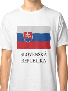 Slovakian flag Classic T-Shirt