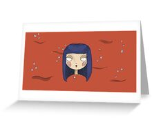 Bloody femme Greeting Card