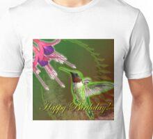 Hummingbird and Fuchsia Birthday  Unisex T-Shirt