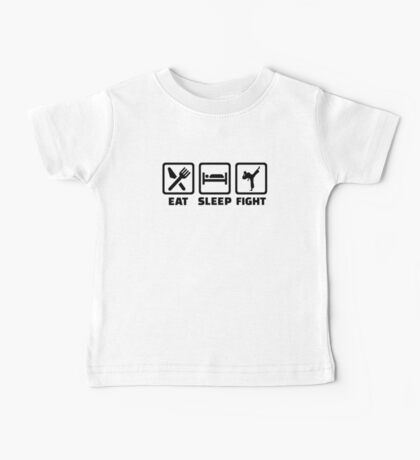 Eat sleep fight Karate Baby Tee