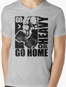 Go Heavy Or Go Home Gym Fitness Mens V-Neck T-Shirt