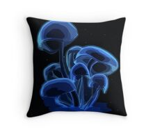 Funky Mushroom Throw Pillow