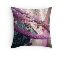 picked up along the path Throw Pillow