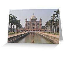 Safdarjung's Tomb in India Greeting Card