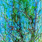 Vertical Growth,  acrylic on Canvas by Regina Valluzzi