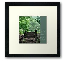 Steps with Lao Tzu Quote Framed Print