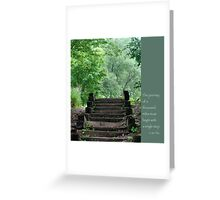 Steps with Lao Tzu Quote Greeting Card