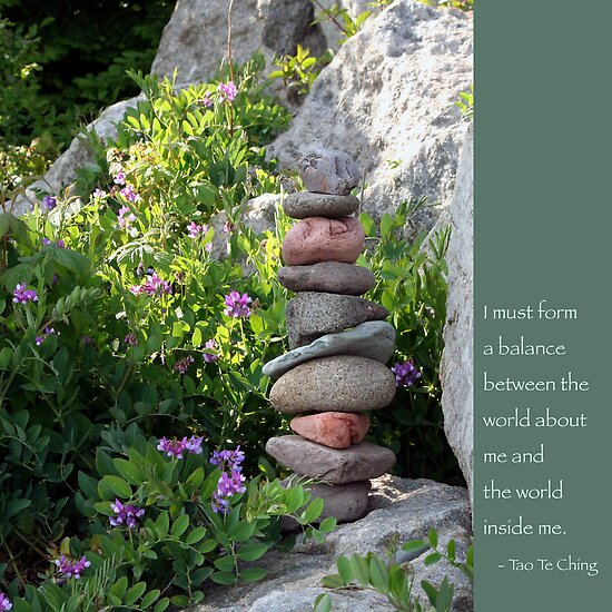 Balancing Stones With Tao Quote by Heidi Hermes
