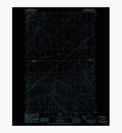 USGS Topo Map Washington State WA Sagebrush Flat 243557 1985 24000 Inverted Photographic Print
