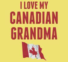 I Love My Canadian Grandma Kids Tee