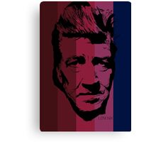 David Lynch in stripy background! Canvas Print