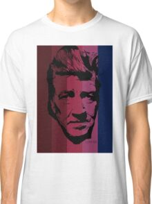 David Lynch in stripy background! Classic T-Shirt