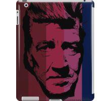 David Lynch in stripy background! iPad Case/Skin