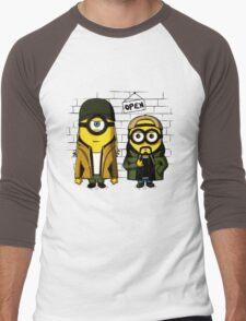 Silent Minion Stuart And Bob Men's Baseball ¾ T-Shirt
